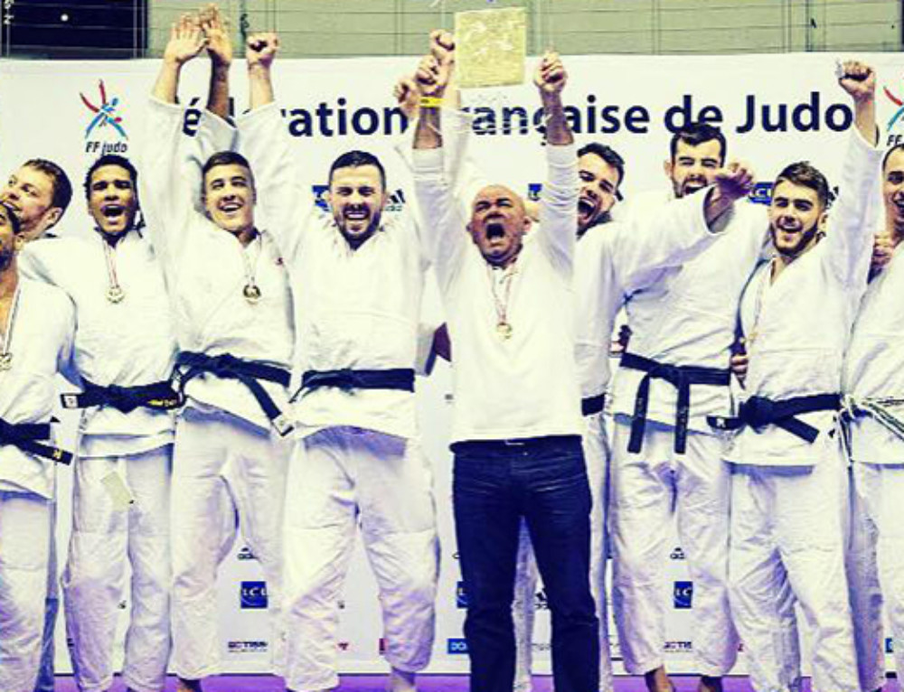Entrainement avec le SGS judo, équipe championne de France par équipe 2016