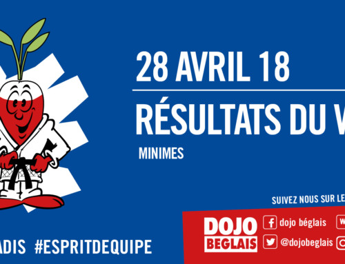 Résultats du Week-end : 28 avril 2018